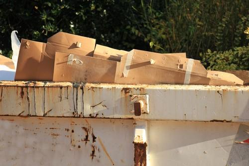 Boxes inside a skip