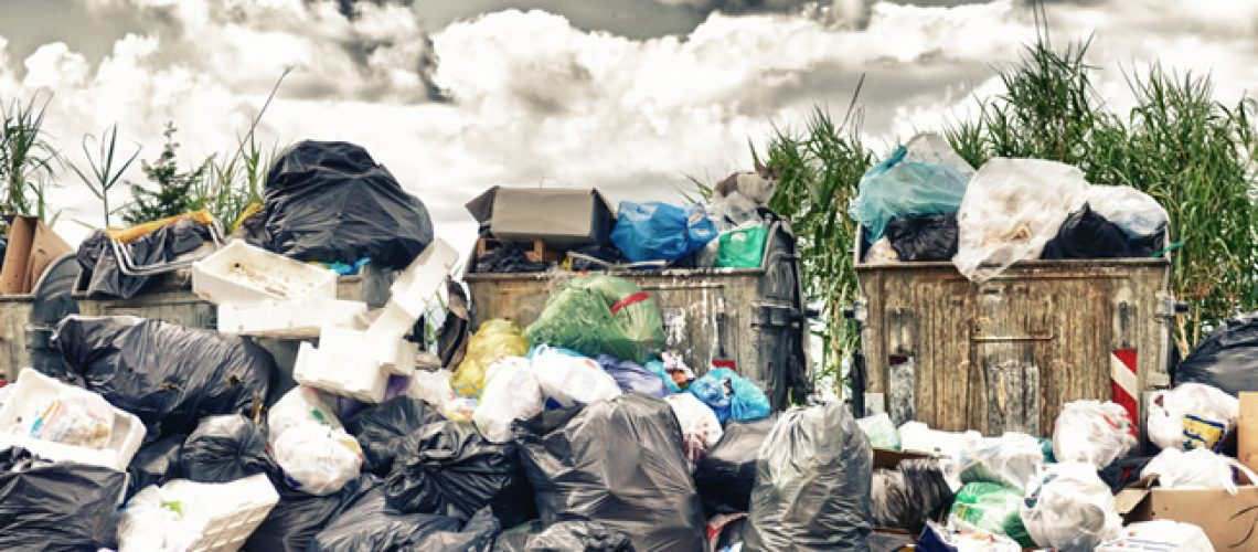Household waste pile build up